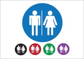 Pictogram Man vrouw teken pictogrammen, toilet teken of toilet pictogram