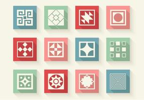 Abstracte vormen iconen vector set