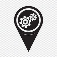 Kaartaanwijzer Gear-pictogram