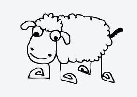 schapen cartoon symbool teken