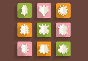 Retro schilden iconen Vector Pack