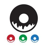 Donut pictogram symbool teken
