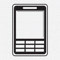Mobiele telefoon pictogram