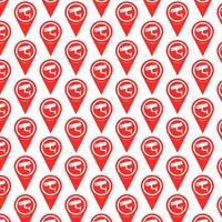 Patroon achtergrond Kaartpictogram aanwijzer