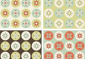 Retro Flowers Vector Patterns