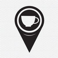 Kaart aanwijzer Cup pictogram