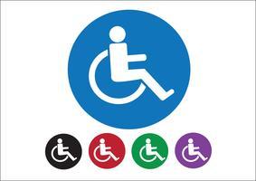 Rolstoel Handicap pictogram ontwerp vector