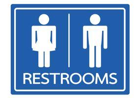 Toilet symbool mannelijk en vrouwelijk pictogram