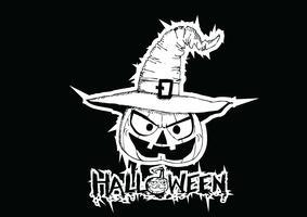 Halloween-kaart met pompoen