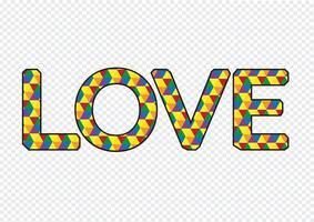 LIEFDE lettertype voor Valentijnsdag kaart vector