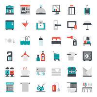 Hotel Service platte pictogram