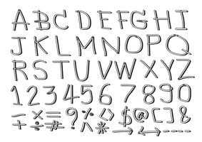 Hand getrokken brieven lettertype vector