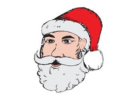 Santa Claus voor getrokken Kerstmishand