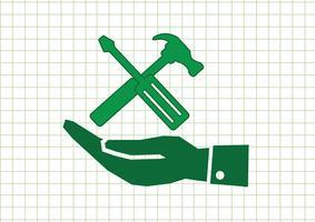 Hand en hulpmiddelen Hammer pictogram