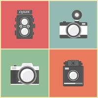 retro camera ingesteld vector