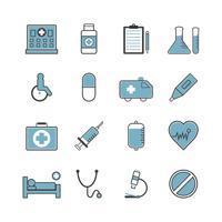 ziekenhuis icon set