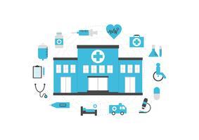 ziekenhuis icon set vector