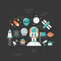 stronomy flat icon vector