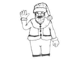Santa Claus voor getrokken Kerstmishand vector
