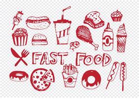 fastfood iconen vector symbolen