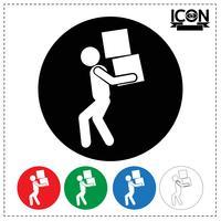 Man bewegende vak pictogram