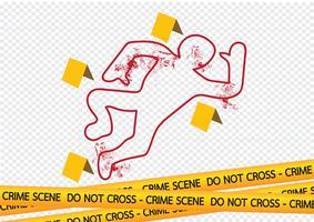 Crime scene gevaar tapes illustratie vector