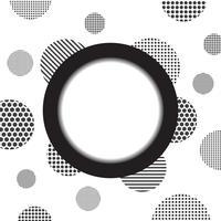 cirkel en gespikkelde achtergrond