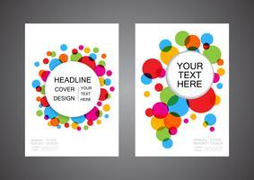 kleurrijke abstracte cirkel flyer vector