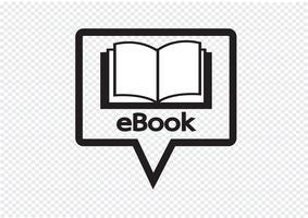E-boek lezer en e-lezer pictogrammen instellen vector