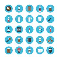 koffie icon set