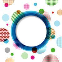 cirkel en gespikkelde achtergrond vector