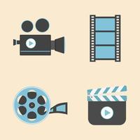 pictogram van entertainmentapparatuur vector