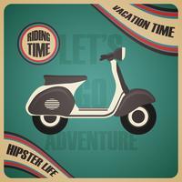klassieke scooter-poster