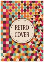 retro multicolor cover vector