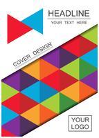 abstracte kleur streep dekking vector