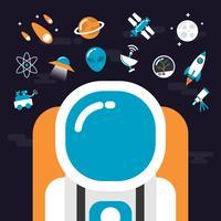 astronomie met pictogrammen vector