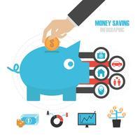 geldbesparend concept vector