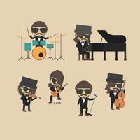 ontkoppel muziekband vector
