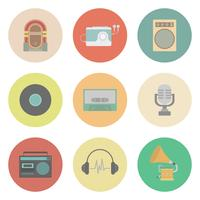 retro muziek pictogram