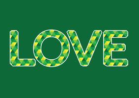 LIEFDE lettertype voor Valentijnsdag kaart