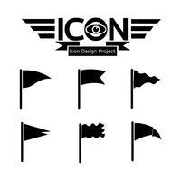 vlag pictogram symbool teken vector