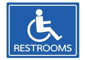 Toiletten voor rolstoel Handicap pictogram ontwerp vector