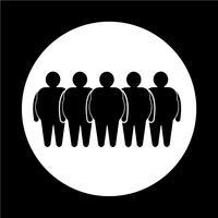 Vet mensen pictogram