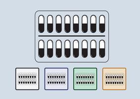 Pillen en capsules icon set