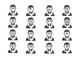 Cartoon gezichten instellen tekening illustratie vector