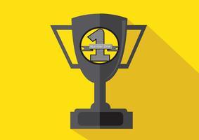 kampioenen beker pictogram in illustratie idee ontwerp