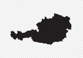 Kaart van Oostenrijk vector