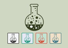 Laboratoriumapparatuur icon set vector