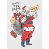Kerstman vrolijk kerstfeest