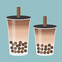 Bubble tea of Pearl melkthee vectorillustratie vector